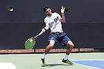 13 May 2016: Michigan's Jathan Malik (ENG). The University of Michigan Wolverines played the East Tennessee State University Buccaneers at the Wake Forest Tennis Center in Winston-Salem, North Carolina in a 2015-16 NCAA Division I Men's Tennis Tournament First Round match. Michigan won the match 4-3.