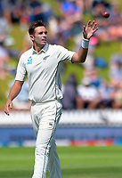 NZ's Tim Southee prepares to bowl during day three of the International Test Cricket match between the New Zealand Black Caps and India at the Basin Reserve in Wellington, New Zealand on Sunday, 23 February 2020. Photo: Dave Lintott / lintottphoto.co.nz