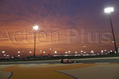 01.04.2016. Bahrain. FIA Formula One World Championship 2016, Grand Prix of Bahrain, Practise day. 7 Kimi Raikkonen (FIN, Scuderia Ferrari) as the sun goes down over the circuit