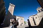 Tower and palace of the Storks (left) and San Pablo monastery (right), Caceres, Spain