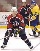 Chad Kolarik (University of Michigan - Phoenix Coyotes)  The US Blue team lost to Sweden 3-2 in a shootout as part of the 2005 Summer Hockey Challenge at the National Junior (U-20) Evaluation Camp in the 1980 rink at Lake Placid, NY on Saturday, August 13, 2005.