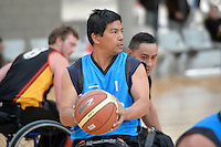 Action from the Basketball Wheelchair National Championships 2013 at ASB Sports Centre, Wellington, New Zealand on Sunday 22 September.<br />