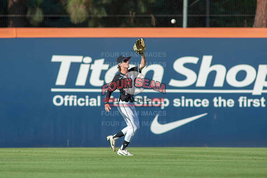 University of Washington Huskies Braiden Ward (7) in action against the Cal State Fullerton Titans at Goodwin Field on June 10, 2018 in Fullerton, California. The Huskies defeated the Titans 6-5. (Donn Parris/Four Seam Images)