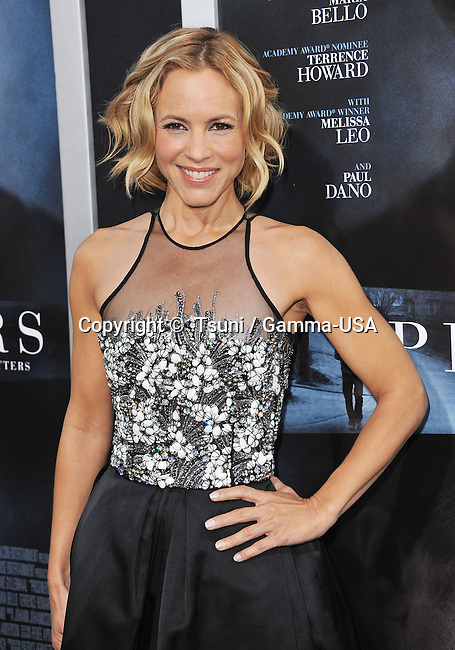 Maria Bello  arriving  at the Prisoners Premiere at the Academy Of Motion Pictures in Los Angeles.