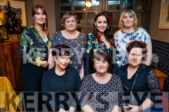Lisa O'Connor, Ann O'Connor, Mags O'Grady, Michelle Tucker, Mary Donnellan, Roisin Donnellan and Sinead Quinn, all from Abbeydorney, enjoying Women's Christmas at the Ashe Hotel, Tralee on Saturday night last.