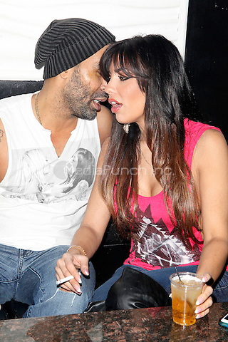 PHILADELPHIA, PA - DECEMBER 28: Natalie Guercio from Mob Wives New Blood pictured with Ryan Banks, the first progressive house music rapper at Lit Ultra Nightclub in Philadelphia, Pa on December 28, 2013 ***EXCLUSIVE*** Credit: Star Shooter / MediaPunch Inc.