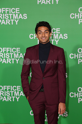 WESTWOOD, CA - DECEMBER 07:  Karan Soni arrives at the premiere of Paramount Pictures' 'Office Christmas Party' at Regency Village Theatre on December 7, 2016 in Westwood, California.  (Credit: Parisa Afsahi/MediaPunch).