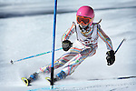 LEAD, SD - JANUARY 31, 2016 -- Inga Trebesch works through the slalom in the U10 category during the 2016 USSA Northern Division Ski Races at Terry Peak Ski Area near Lead, S.D. Sunday. (Photo by Richard Carlson/dakotapress.org)