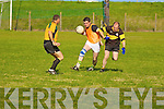 David Ryan and Tom Twoomy on the ball at the mens seven a side in the Brendan O' Carroll memorial sports day at Clounmacon G AA grounds on Sunday..   Copyright Kerry's Eye 2008
