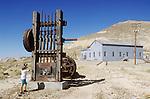Stamp mill at a silver mine, Tonopah Mining Park, Tonopah, Nev.