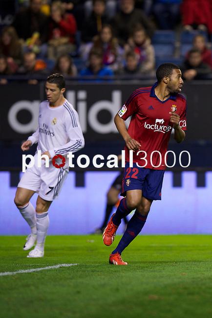 MADRID. ESPAÑA. FÚTBOL.<br /> Football match during La Copa del Rey (Spain);  04/01/2014.<br /> En la imagen :<br /> 22     Jordan Loties (CA Osasuna)