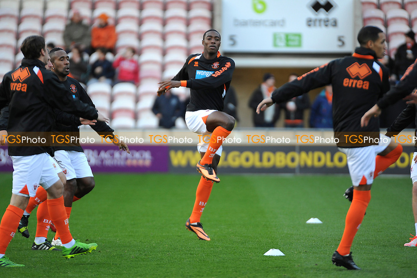On loan from Manchester United Tyler Blackett (centre) of Blackpool starts on the bench- Blackpool vs Ipswich Town - Sky Bet Championship Football at Bloomfield Road, Blackpool, Lancashire - 09/11/13 - MANDATORY CREDIT: Greig Bertram/TGSPHOTO - Self billing applies where appropriate - 0845 094 6026 - contact@tgsphoto.co.uk - NO UNPAID USE
