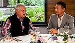 Tenniel Chu and Alan Palmer attends a VIP Lunch during the Hyundai China Ladies Open 2014 on December 11 2014, in Shenzhen, China. Photo by Xaume Olleros / Power Sport Images