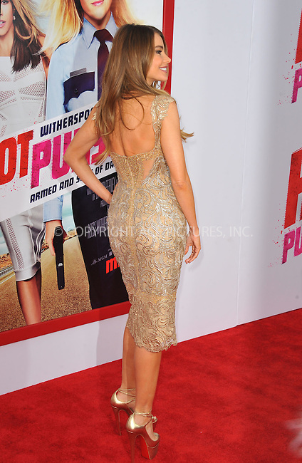 WWW.ACEPIXS.COM<br /> <br /> April 30 2015, LA<br /> <br /> Actress Sofia Vergara arriving at the premiere of 'Hot Pursuit' at the TCL Chinese Theatre on April 30, 2015 in Hollywood, California. <br /> <br /> <br /> Please byline: Peter West/ACE Pictures<br /> <br /> ACE Pictures, Inc.<br /> www.acepixs.com<br /> Email: info@acepixs.com<br /> Tel: 646 769 0430