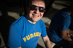 """© Joel Goodman - 07973 332324 . 04/07/2015 . Manchester , UK . Super Furry Animals fan STEPHEN WINCOTE (40) . Fans at the Castlefield Bowl as part of the """" Summer in the City """" festival in Manchester. Photo credit : Joel Goodman"""
