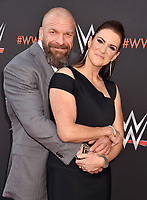 NORTH HOLLYWOOD, CA - JUNE 06: Paul 'Triple H' Levesque (L) and Stephanie McMahon-Levesque attend WWE's first-ever Emmy 'For Your Consideration' event at Saban Media Center on June 6, 2018 in North Hollywood, California.<br /> CAP/ROT/TM<br /> &copy;TM/ROT/Capital Pictures