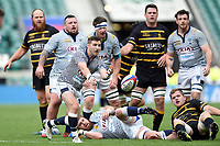 Nicholas Allsop of Cheshire passes the ball. Bill Beaumont County Championship Division 1 Final between Cheshire and Cornwall on June 2, 2019 at Twickenham Stadium in London, England. Photo by: Patrick Khachfe / Onside Images