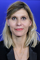 VIRGINIE DUBY-MULLER (SECRETAIRE GENERALE ADJOINTE EN CHARGE DES FEDERATIONS) - POINT PRESSE DE LAURENT WAUQUIEZ AU QG DES REPUBLICAINS A PARIS, FRANCE, LE 13/12/2017.