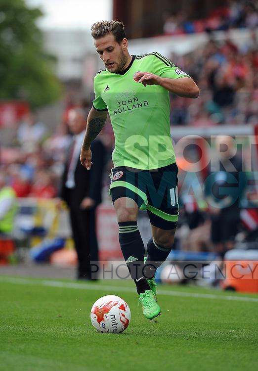 Billy Sharp of Sheffield United<br /> - English League One - Swindon Town vs Sheffield Utd - County Ground Stadium - Swindon - England - 29th August 2015 <br /> --------------------