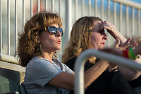 Fans take in the South Atlantic League game between the Delmarva Shorebirds and the Kannapolis Intimidators on a sunny Friday night at Kannapolis Intimidators Stadium on June 30, 2017 in Kannapolis, North Carolina.  The Shorebirds defeated the Intimidators 6-4.  (Brian Westerholt/Four Seam Images)