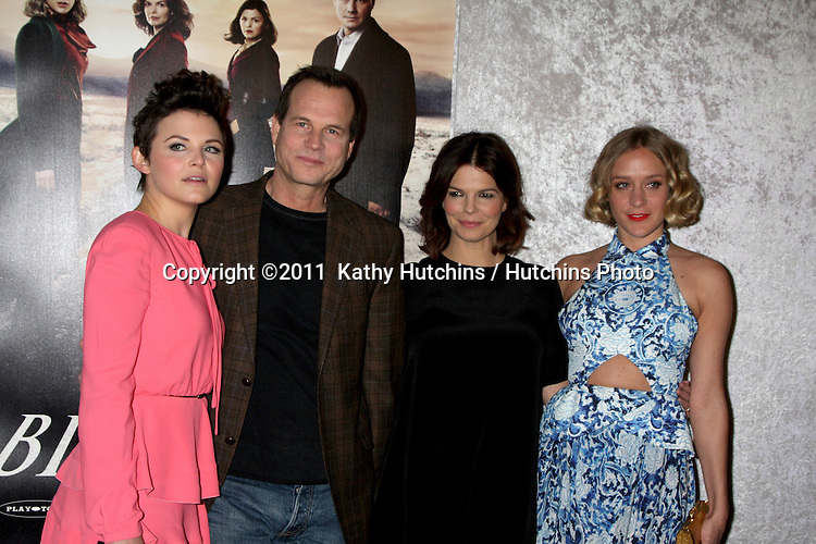 "LOS ANGELES - JAN 12:  Ginnifer Goodwin, Bill Paxton, Jeanne Tripplehorn and Chloe Sevigny arrives at the ""Big Love"" Season 5 Premiere  at Director's Guild of America on January 12, 2010 in Los Angeles, CA."