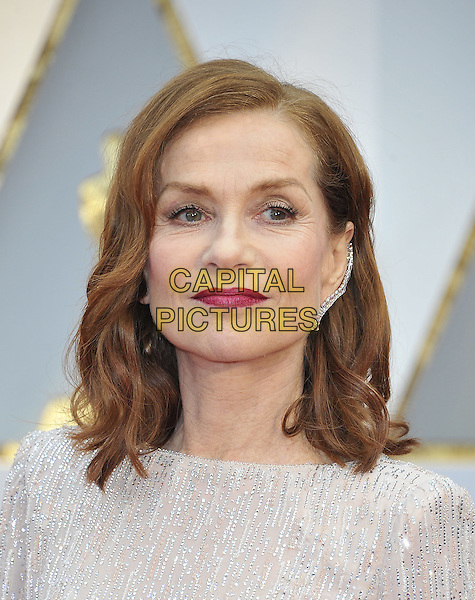 HOLLYWOOD - FEBRUARY 26: Isabelle Huppert attends the 89th Annual Academy Awards at the Dolby Theatre on February 26, 2017 in Hollywood, California. <br /> CAP/MPI99<br /> &copy;MPI99/Capital Pictures