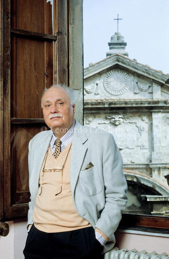 Elémire Zolla, italian writer, Montepulciano, marzo 1996. © Leonardo Cendamo