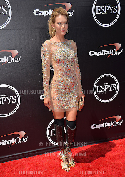 Amy Purdy at the 2015 ESPY Awards at the Microsoft Theatre LA Live.<br /> July 15, 2015  Los Angeles, CA<br /> Picture: Paul Smith / Featureflash