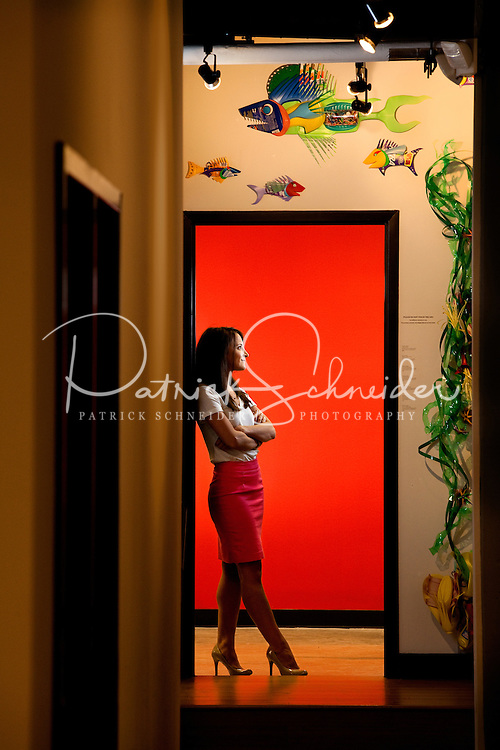 Portrait photography of Abigail Miressi, office manager at Charlotte's Packard Place business incubator.  Located in the heart of uptown Charlotte, NC, Packard Place is a hub for entrepreneurship and innovation, helping to grow business startups in the community. ..