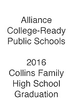 2016 Alliance Grad Collins Family