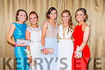 Attending the Castleisland Community College Debs at the Earl of Desmond Hotel on Friday night were  l-r  Katie Horan, Amy Brown, Tamara Horan, Andrea Murphy, Kerrie McCarthy.