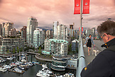 CANADA, Vancouver, British Columbia, view of the city from atop the Granville Street Bridge