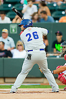 California League All-Star Miles Head #26 of the Stockton Ports at bat against the Carolina League All-Stars during the 2012 California-Carolina League All-Star Game at BB&T Ballpark on June 19, 2012 in Winston-Salem, North Carolina.  The Carolina League defeated the California League 9-1.  (Brian Westerholt/Four Seam Images)