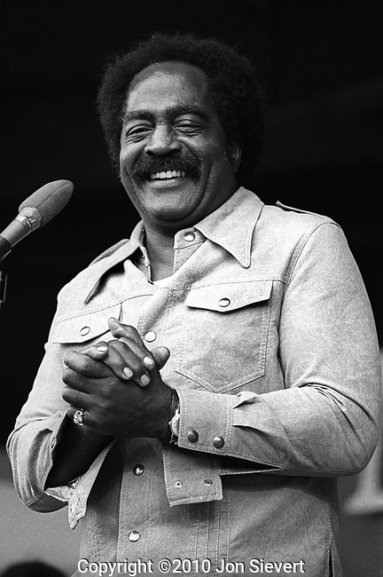 "Jimmy Witherspoon, Sept 1974. American blues singer/shouter who spanned the worlds of blues, R&B and jazz with his deep baritone and unique style anchored in the big band blues traditions. His 1949 hit ""Ain't Nobody's Business"" was one of the biggest records of the era, a #1 R&B hit that stayed on the Billboard charts 34 weeks that year"