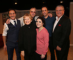 Jordan Sobel, Danny Aiello, Kathleen K. Johnson, Caitlin Gallogly, Christopher M. Smith and Michael J. Guccione during the Off-Broadway Opening Night of 'Fiercely Independent' at the Soho Playhouse on March 6, 2019 in New York City.