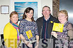 Breda Moriarty, Irene Nash, Connie and Joan O'Sullivan at the Irish Cancer society registration in the Brehon Hotel on Saturday..