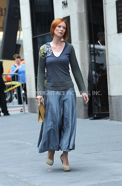 WWW.ACEPIXS.COM . . . . . ....September 9 2009, New York City....Actress Cynthia Nixon on the set of the new 'Sex and the City' movie on September 9 2009 in New York City....Please byline: KRISTIN CALLAHAN - ACEPIXS.COM.. . . . . . ..Ace Pictures, Inc:  ..tel: (212) 243 8787 or (646) 769 0430..e-mail: info@acepixs.com..web: http://www.acepixs.com