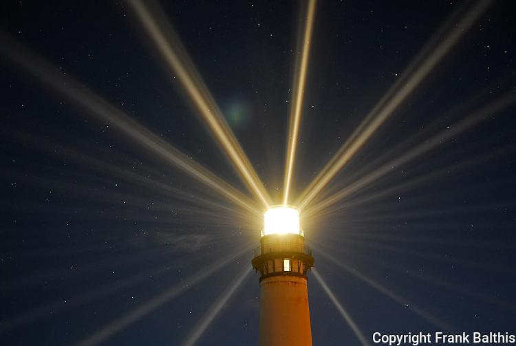 Fresnel Lens lighting, Pigeon Point Lighthouse