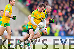 Kerry in action against Karl Lacey Donegal in Division One of the National Football League at Austin Stack Park Tralee on Sunday.