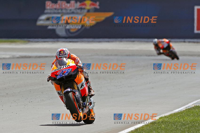 © Simone Rosa/Semedia..28-08-2011 Indianapolis (USA)..Motogp - motogp..in the picture: Casey Stoner - Repsol Honda team and Dani Pedrosa - Repsol Honda team
