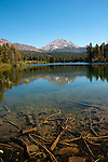 California: Manzanita Lake and Lassen Peak in Lassen Volcanic National Park.  Photo copyright Lee Foster california105316.