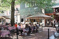 The downtown mall outdoor cafe in Charlottesville, Va.