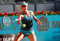 Lesia Tsurenko of Ukraine in action against Angelique Kerber of Germany during day two of the Mutua Madrid Open at La Caja Magica on May 05, 2019 in Madrid, Spain. /NortePhoto.com