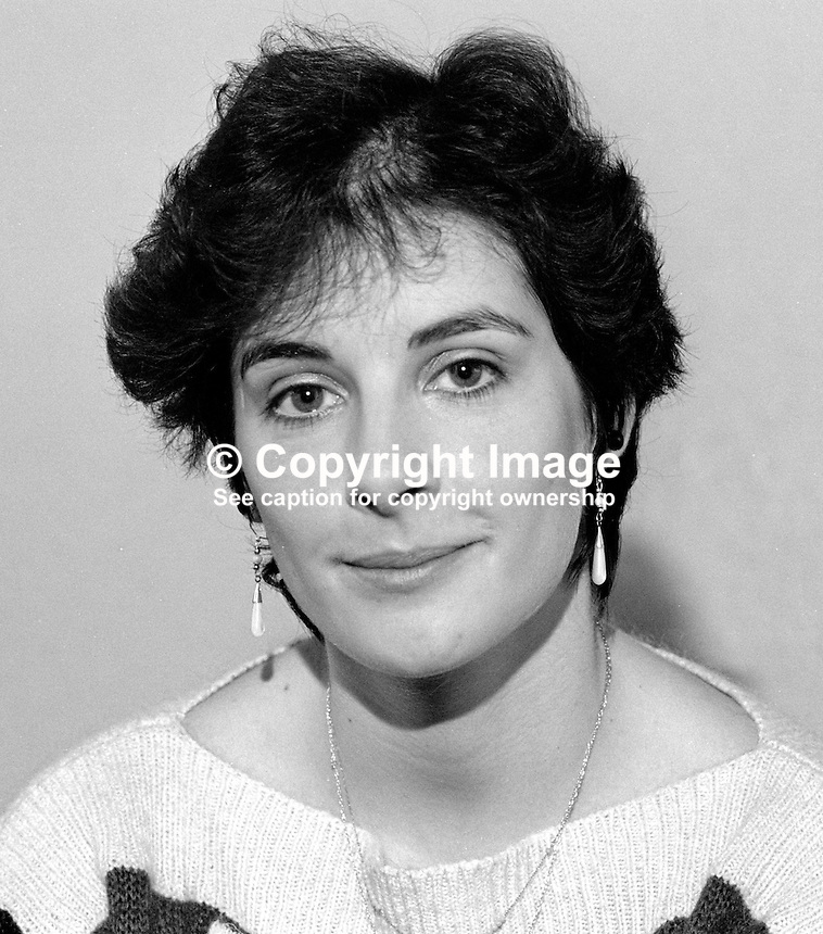 Enya Ni Bhraonain, aka Eithne Brennan, singer, composer, film scorist, formerly with Clannad, 19861115ENB3.<br />