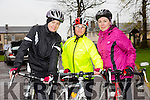 Members of Finuge freewheelers  at the Orbis scenic challenge on Sunday in Listowel.Pictured are Ashley Casey, Mary Moloney and Sarah Nolan