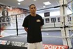 Darleys Pérez en entrenamiento libre en  Manchester, Inglaterra, antes de su pelea este sábado 18 de julio ante Anthony Crolla.