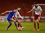 Mike Jones of Oldham Athletic tussles with John Brayford of Sheffield Utd - FA Cup Second round - Sheffield Utd vs Oldham Athletic - Bramall Lane Stadium - Sheffield - England - 5th December 2015 - Picture Simon Bellis/Sportimage