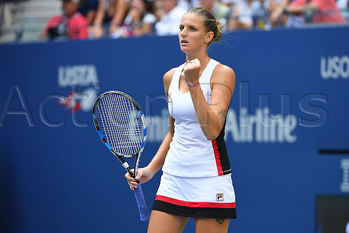 04.09.2016. Flushing Meadows, New York, USA. US Open 2016 Grand Slam tennis tournament.  Karolina Pliskova (CZE) beats Venus Williams (USA) in 3 sets