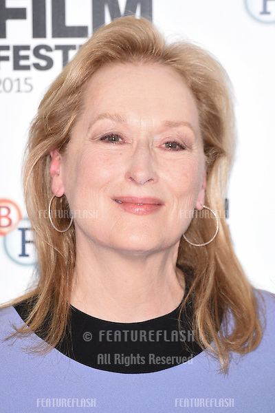 Actress Meryl Streep at the photocall for her movie &quot;Suffragette&quot; at the Lanesborough Hotel, Knightsbridge, London.<br /> October 7, 2015  London, UK<br /> Picture: Steve Vas / Featureflash