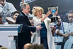 Real Madrid's president Florentino Perez and Madrid Mayor Manuela Carmena Crystal Gallery of the Palacio de Cibeles in Madrid, May 22, 2017. Spain.<br /> (ALTERPHOTOS/BorjaB.Hojas)